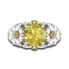 verlobungsring fã r mã nner dazzling engagement ring with yellow gemstone for