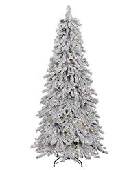 flocked alpine spruce tree tree classics