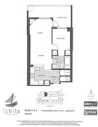 Floor Plan La by La Vita Mid Rise U2013 M D 5 Unit 701 U0026 706