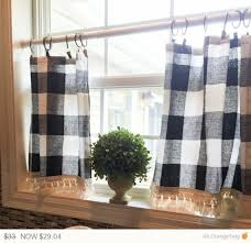 Black Check Curtains Ideas Buffalo Plaid Curtains Black Check Curtain The Land
