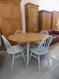 round blonde ercol painted dining table u0026 4 chairs in norwich