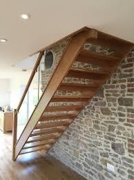 european oak open tread staircase d b joinery