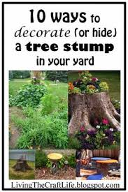 For A Tree How To Create A Tree Stump Planter Tree Stump Doors And