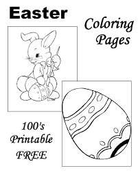 easter coloring pages free printable