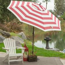 Olefin Patio Umbrella Coral Coast 7 5 Ft Olefin Fashion Wind Resistant Patio Umbrella