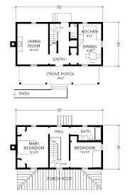 3 16x32 cabin floor plan slyfelinos 1632 house plans cost small two story 16 x 32 virginia farmhouse house plans project small