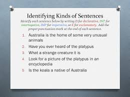 the sentence and its parts ppt