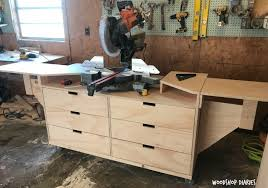 diy table saw stand diy mobile miter saw stand