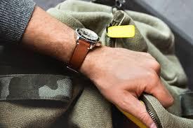 bracelet cuir montre images Bracelet de montre en cuir de veau marron vintage sans surpiqure jpg