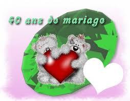 40 ans de mariage montage photo 40 ans mariage pixiz