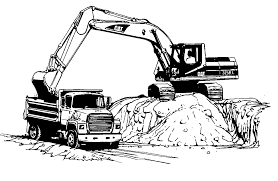 coloring pages of excavators