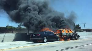 fiery crash cracks concrete on 405 freeway in seal beach abc7 com