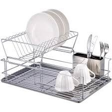 kitchen dish rack ideas stainless steel dish drying rack hkjc058e 3 tier chrome steel dish
