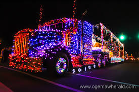christmas light parade floats floats light up west branch for annual christmas parade ogemaw