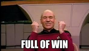Win Meme - full of win picard wins quickmeme