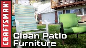 how to use a pressure washer to clean patio furniture craftsman