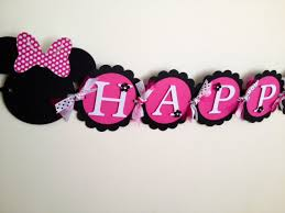 minnie mouse birthday deluxe minnie mouse happy birthday banner pink minnie mouse