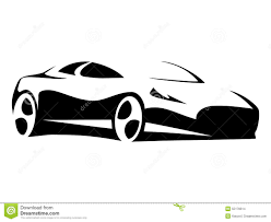 lamborghini sketch side view car silhouette modern stock vector image 55176614