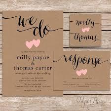 wedding invitations kraft paper rustic wedding invitation kraft paper wedding invite set