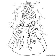 coloriage barbie princesse dessin