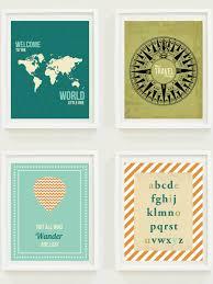 nursery prints around the world travel nursery alphabet
