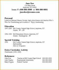 How To Type Resume For A Job by 14 How To Write A Resume For A Job As A Student Basic Job