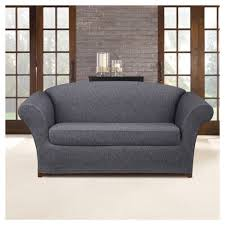 sure fit denim sofa slipcover dark indigo stretch denim loveseat slipcover sure fit target
