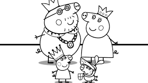 peppa pig and her family coloring book coloring pages video for