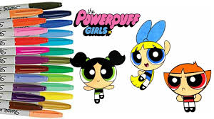 powerpuff girls coloring book color swap bubbles buttercup blossom