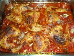 cuisiner cuisse de poulet au four cuisses de poulet jaune cuites au four avec des tomates en dés