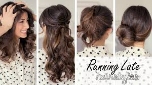 video running late these 3 quick and easy hairstyles that are