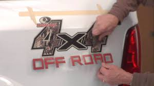 Ford Ranger Truck Decals - mossy oak graphics 4x4 camo decal installation instructions youtube