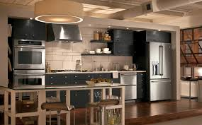Black Kitchen Design Ideas Kitchen Interesting Industrial Kitchens With L Shape Black