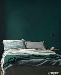 the richest of greens dark green bedroom idea
