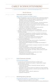 Relationship Resume Examples by Community Relations Manager Resume Samples Visualcv Resume