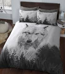 wolf bed set wolf animal duvet quilt cover bedding set linens range