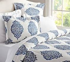 Blue And White Comforter Blue Bedding Pottery Barn