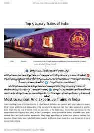 top 5 luxury trains of india luxury rail india tourism infopedia