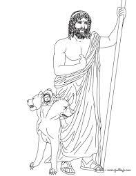 imagenes de zeus para dibujar faciles dibujos para colorear dios hades hermano de zeus y dios griego del