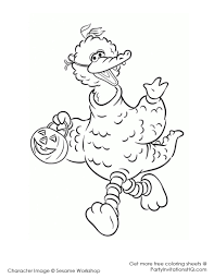 Fall Halloween Coloring Pages by Big Bird Coloring Page Cute With Image Of Big Bird 4 6673
