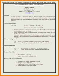 Sample Of Resume For Teachers Job by 10 Teacher Resume Format In Word Lease Template