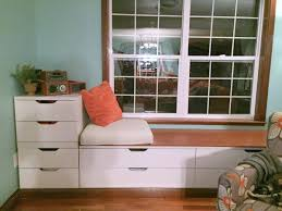 fashionable window bench with storage home inspirations design