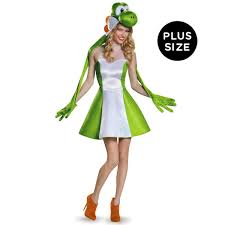 Halloween Costumes Adults Size Super Mario Bros Size Womens Yoshi Costume Adults