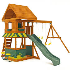 Backyard Set Backyard Wooden Swing Sets Home Outdoor Decoration