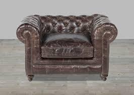 Black Leather Armchair Brown Leather Sofa Nailhead Trim