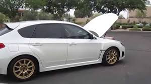 custom subaru hatchback 2009 subaru wrx sti hatchback white with low miles youtube