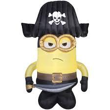 amazon com halloween inflatable 9 minion pirate gemmy outdoor