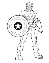 16 Printable Captain America Coloring Pages Print Color Craft Captain America Coloring Page