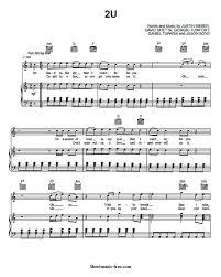 download lagu justin bieber 2u 2u sheet music justin bieber ft david guetta sheet music free