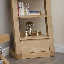 Narrow Bookcase by Z Shape Solid Oak 1 Drawer Narrow Bookcase Oak Furniture Uk